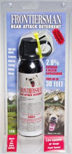 camping protection and bear spray