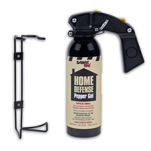 Wall mount pepper spray for home defense