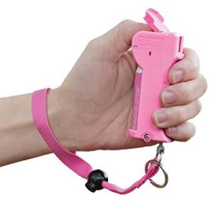 pink pepper spray with strap