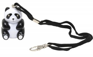 Panda Chaperone 125dB Emergency Panic Student Alarm by Vigilant Personal Protection Systems with Light Up Eyes, Wrist Strap and Bag Clip