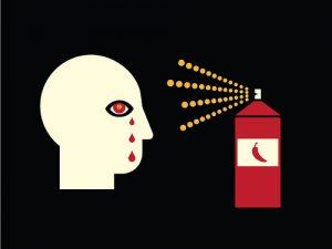 proper use of pepper spray