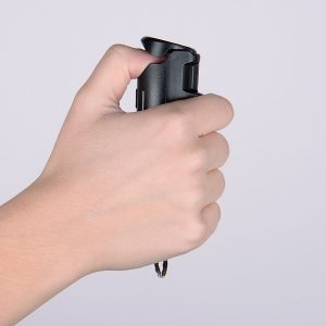 How to hold pepper spray the right way
